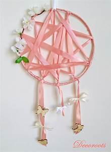 Attrape Reve Bebe : attrape r ve fille rose corail blanc papillon fleurs enfant b b attrape r ve decoroots ~ Teatrodelosmanantiales.com Idées de Décoration