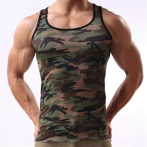 camouflage tank top mens army green vest sleeveless