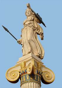 The, Statue, Of, The, Goddess, Athena, Photo, From, Panepistimio, In, Athens