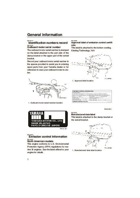 Yamaha 9 9 Outboard Motor Owners Manual by 2005 Yamaha Outboard 9 9d 15d Boat Motor Owners Manual