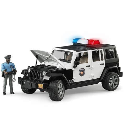 police jeep wrangler bruder jeep wrangler unlimited rubicon police vehicle