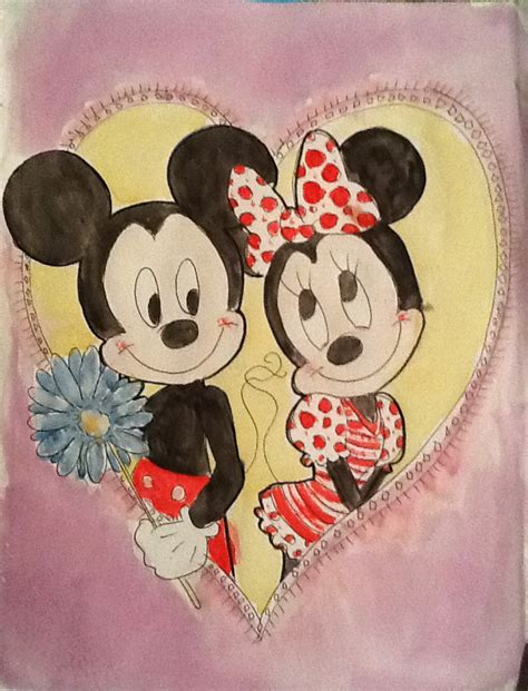 mickey and minnie mouse valentine by 17cherry on deviantart