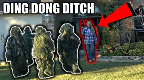 Ding Dong Ditch In Ghillie Suits Prank!! (what Happened