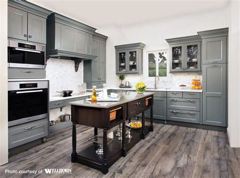 wood floors in kitchen maple cabinets stained in a rich grey tone complemented 8568