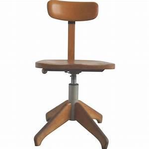 Chaise De Bureau En Bois : chaise de bureau federdreh en bois albert stoll 1920 design market ~ Mglfilm.com Idées de Décoration