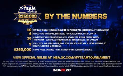 2K CONFIRMS DETAILS FOR NBA 2K20 MYTEAM UNLIMITED $250,000 ...