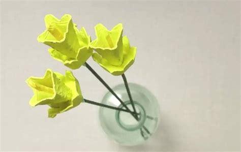 Basteln Mit Eierkarton Blumen Blumen Einfach Basteln Flowers Easy