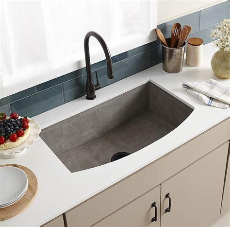 granite apron front kitchen sinks farmhouse quartet curved apron front sink trails 6884