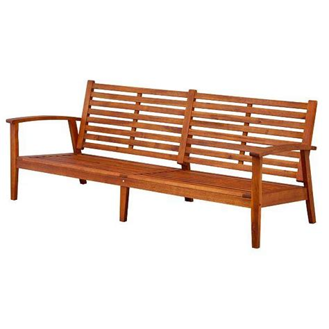 Patio Settee by Outdoor Eucalyptus Wood Large Sofa Settee