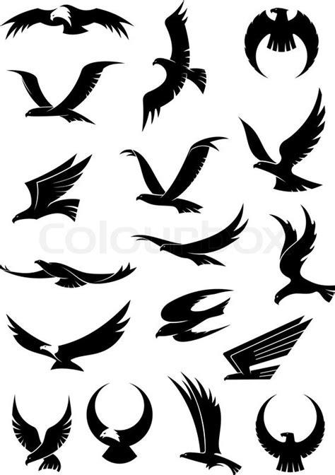 flying eagle falcon  hawk vector stock vector colourbox