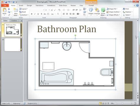 floor plans in powerpoint bathroom plan templates for powerpoint