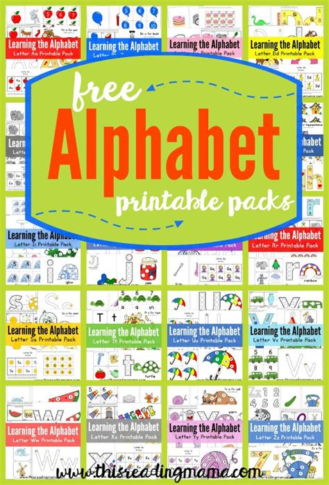 free abc printable packs learning the alphabet 204 | a489d2bdee6bd159cdc686bd0009f68f