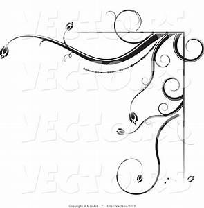 Leaf Corner Border Black And White Clipart - Clipart Suggest