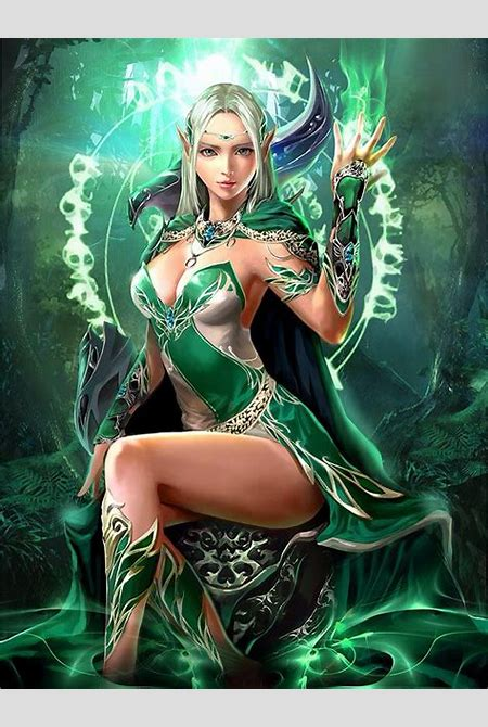 Elfa hechicera Chain of souls | magos y brujaa | Pinterest | Female elf, Kitty and Elves