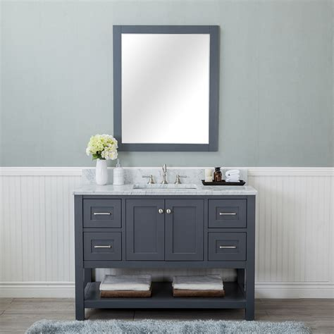 Alya Bath Wilmington 48 in. Single Bathroom Vanity in Gray