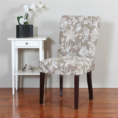 dining room chair slipcovers powell seating woven gold with taupe floral