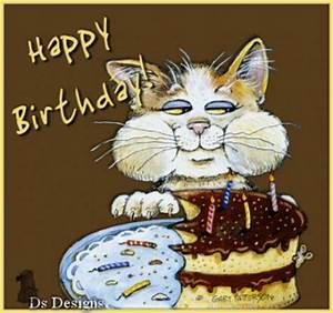 Happy Birthday Cat Cake :: Happy Birthday :: MyNiceProfile.com
