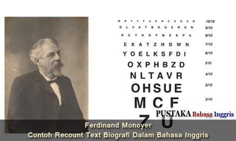 Ferdinand Monoyer Contoh Recount Text Biografi Dalam