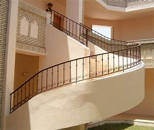 Garde Corps Escalier Fer Forgé : batinox tunisie escalier inox rampes inox rampes fer forg garde corps inox garde corps ~ Nature-et-papiers.com Idées de Décoration