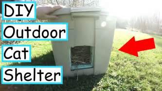 outdoor cat shelter diy cats diy outdoor cat shelter catsvideosdogs