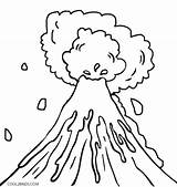 Coloring Explosion Sketch Getdrawings Volcanic sketch template