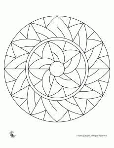 simple mandala coloring pages  kids  patterns