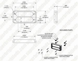 Low Profile Led Mini Strobe Light Bezels