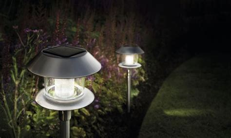 cole bright solar stainless steel lights four