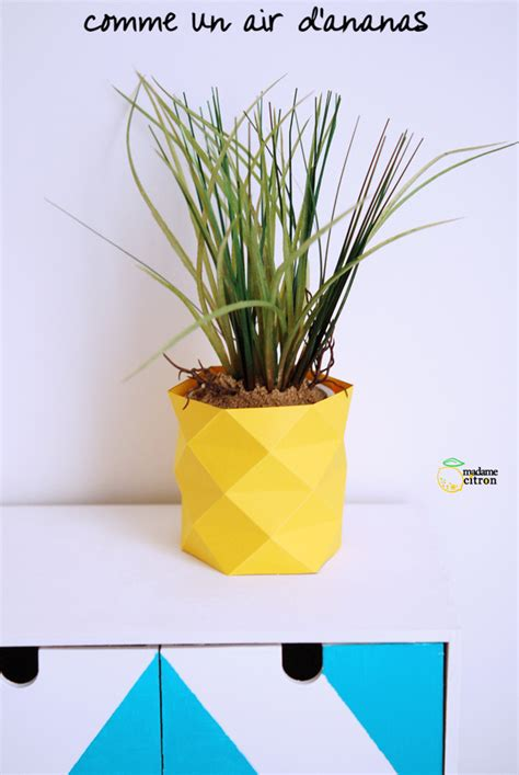 comment faire un cache pot en papier madame citron de cr 233 ations et diy