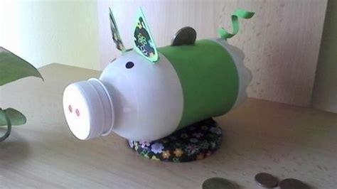 sparschwein selber basteln sparschwein aus pet flasche basteln recycling basteln