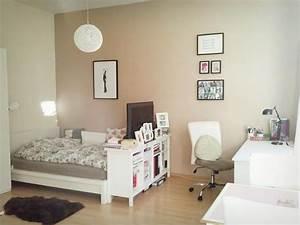 Wg Zimmer Einrichten : sch ne wg zimmer einrichtungsidee gro es bett ~ Watch28wear.com Haus und Dekorationen