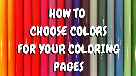 adult coloring book hack how to choose the perfect color