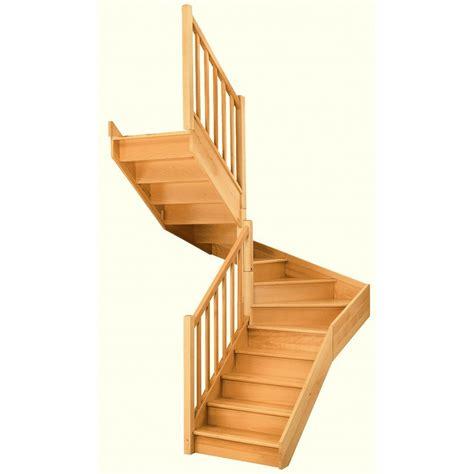 escalier deux quart tournant pas cher escalier soft quart tournant interm 233 diaire gauche h274 re classic bois leroy merlin