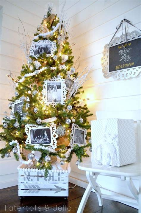 diy christmas tree containers setting
