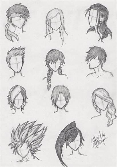 Hair Anime Practice Draw Deviantart Male Manga