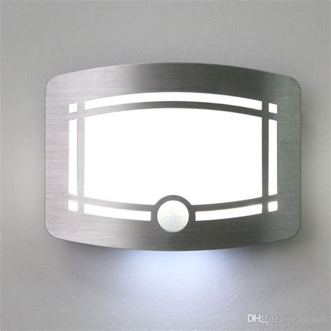 motion sensor activated led wall light sconce wall light battery powered hallway staircase