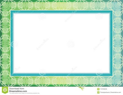Academic Background Classic Guilloche Frame And Border Design Stock Vector