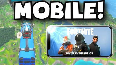 fortnite mobile ios invite event