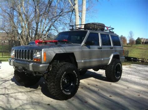 jeep cherokee tires lifted xj with roof rack xj lift tire setup thread
