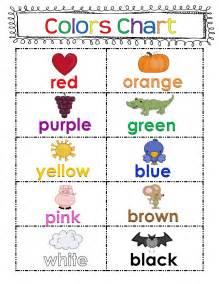 Kindergarten Color Chart
