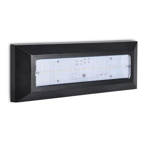 contemporary black plastic outdoor surface mounted 2w led