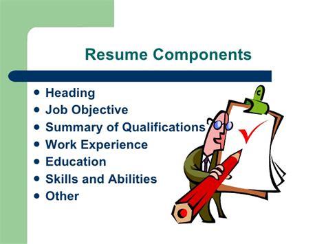 resume components order