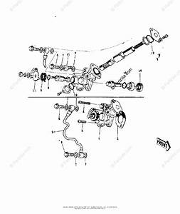 Kawasaki Motorcycle 1972 Oem Parts Diagram For Oil Pump