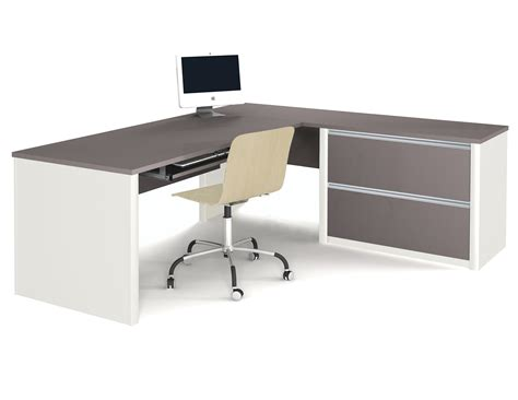 l shaped table desk bestar connexion l shaped desk