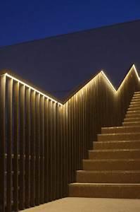Solar Pergola Lights Stairway Lighting Ukpavilion2015 Exterior Stairs
