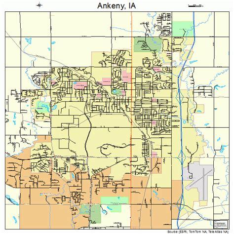 ankeny iowa street map
