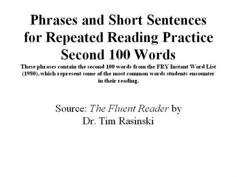 Phrases And Short Sentences Second 200 Authorstream