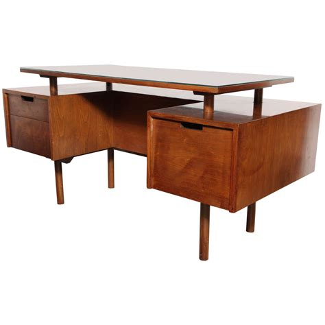 floating desk for sale early milo baughman glenn of california two sided floating
