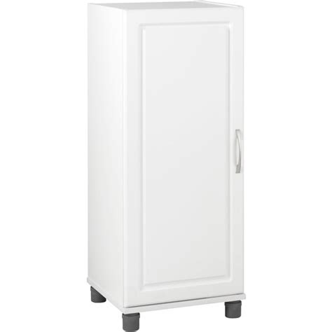 systembuild single door storage cabinet stackable white