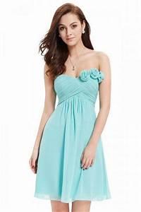Robe Pour Temoin De Mariage : robe de soir e bleu turquoise courte pour t moin de ~ Melissatoandfro.com Idées de Décoration
